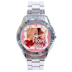 l love you - Stainless Steel Analogue Watch