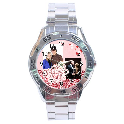 L Love You By May   Stainless Steel Analogue Watch   43msx5b05oyc   Www Artscow Com Front