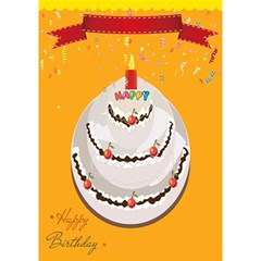 Cake By Divad Brown   Birthday Cake 3d Greeting Card (7x5)   V4hp9mw8l9ye   Www Artscow Com Inside