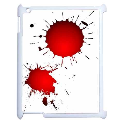 Splatter Ipad Case By Dylan Noonan   Apple Ipad 2 Case (white)   V89lofbocqog   Www Artscow Com Front