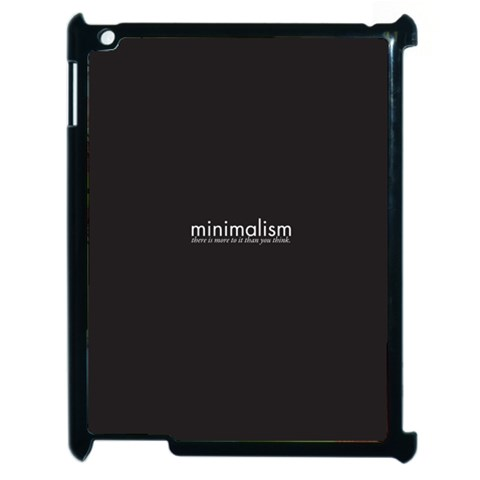 Minimalism Ipad Case By Dylan Noonan   Apple Ipad 2 Case (black)   A5giwk3zq3yw   Www Artscow Com Front