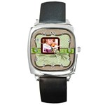 happy easter - Square Metal Watch