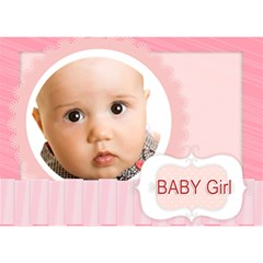Baby Girl By Joely   Girl 3d Greeting Card (7x5)   7n7cuxg2g2r9   Www Artscow Com Front