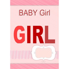 Baby Girl By Joely   Girl 3d Greeting Card (7x5)   7n7cuxg2g2r9   Www Artscow Com Inside