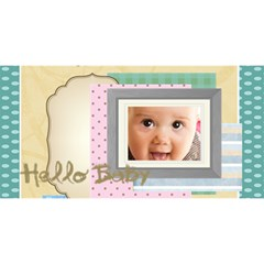 Halo Baby By Joely   Happy Birthday 3d Greeting Card (8x4)   Ysnlo9gi5009   Www Artscow Com Front