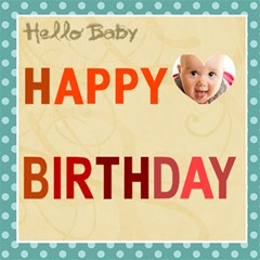 Halo Baby By Joely   Happy Birthday 3d Greeting Card (8x4)   Ysnlo9gi5009   Www Artscow Com Inside