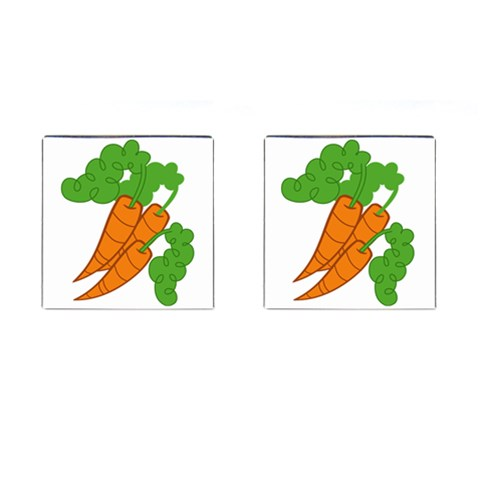 Carrot Top Cutie Mark Cufflinks By Dylan Noonan   Cufflinks (square)   92e03cobl3vm   Www Artscow Com Front