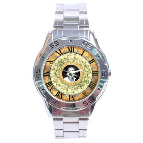 Vintage Watch By Claire Mcallen   Stainless Steel Analogue Watch   3hzgwhbhgazp   Www Artscow Com Front