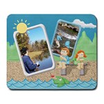 Gone Fishing Large Mousepad1