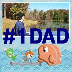 Fishing 3dcard #1 Dad A By Snackpackgu   #1 Dad 3d Greeting Card (8x4)   Ubbkl0kwilr3   Www Artscow Com Inside
