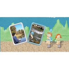 Fishing 3dcard #1 Dad A By Snackpackgu   #1 Dad 3d Greeting Card (8x4)   Ubbkl0kwilr3   Www Artscow Com Back