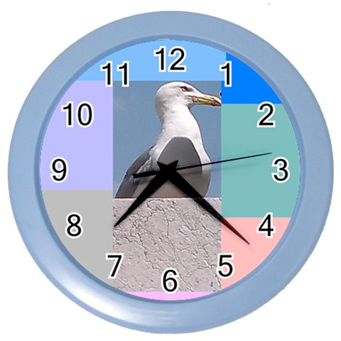 The Seagull In Rome By Riksu   Color Wall Clock   Kgdp2zdssrxy   Www Artscow Com Front