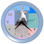 the Seagull in Rome - Color Wall Clock