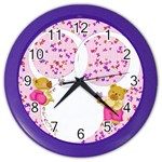 girl clock - Color Wall Clock