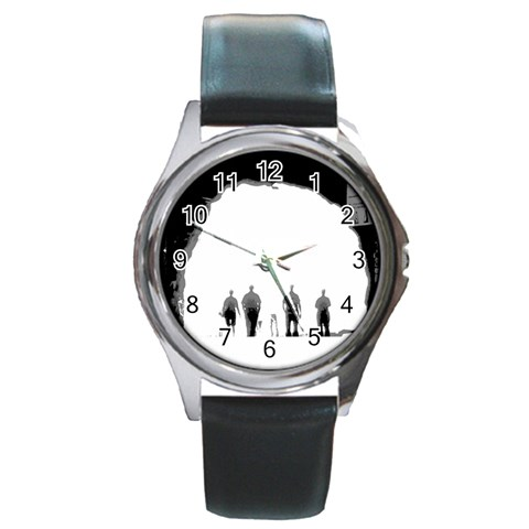 The Tunnel Watch By Riksu   Round Metal Watch   9dhrdpq6urum   Www Artscow Com Front
