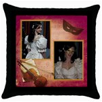 Serenade Throw Pillow - Throw Pillow Case (Black)
