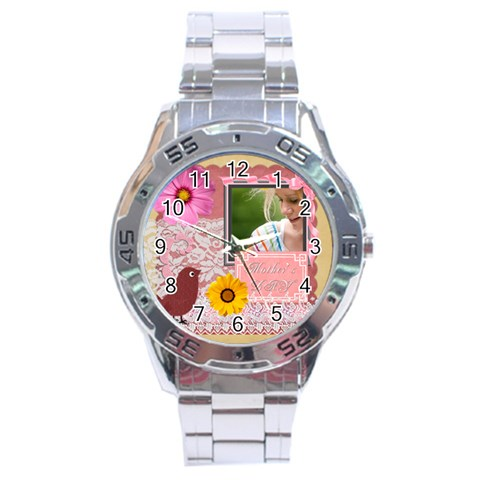 Mothers Day By Joely   Stainless Steel Analogue Watch   Ytol4laupt39   Www Artscow Com Front