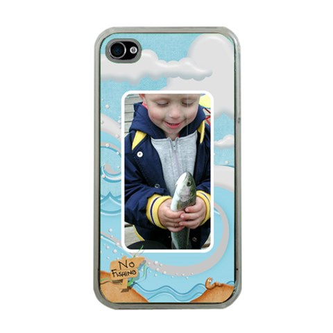 No Fishing Apple Iphone 4 Case Clear By Snackpackgu   Apple Iphone 4 Case (clear)   75oj244mqalh   Www Artscow Com Front