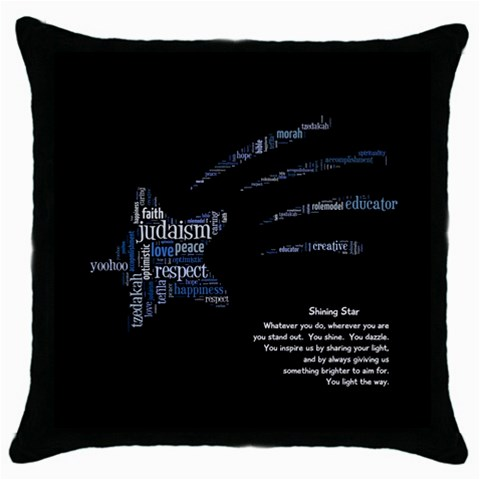 Pillow With Poem 2 By Rokki Parrinello   Throw Pillow Case (black)   S7rxb7jq2yqw   Www Artscow Com Front