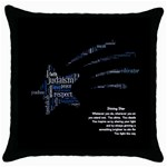 pillow with poem 2 - Throw Pillow Case (Black)