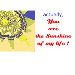 Sunshine Card 1  (with The Text In The Back) By Riksu   Heart Bottom 3d Greeting Card (7x5)   Whtohpx8azig   Www Artscow Com Back