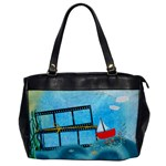 blue sea bag - Oversize Office Handbag