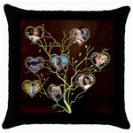 My Family Tree - Throw Pillow Case (Black)
