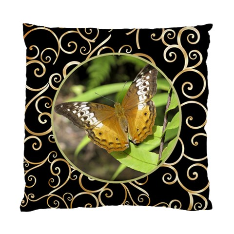 Black And Gold Cushion By Deborah   Standard Cushion Case (one Side)   Xlgirpsc4u72   Www Artscow Com Front