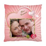 Pink Heart Cushion - Standard Cushion Case (One Side)