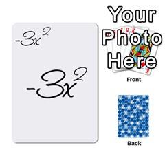 Algebra Rummy By Tracy Jarman   Playing Cards 54 Designs   1msaxqb18ruk   Www Artscow Com Front - Spade4