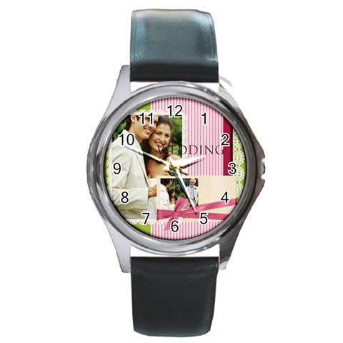 Wedding By Joely   Round Metal Watch   Wzr9i1piu3kt   Www Artscow Com Front