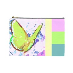 Butterfly And Flower By Riksu   Cosmetic Bag (large)   Paop4enb1og9   Www Artscow Com Front