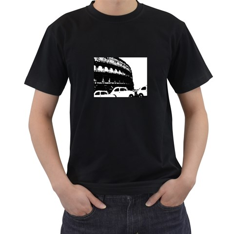 The Rush Hour (in Rome)    T Shirt By Riksu   Men s T Shirt (black)   1xlvyv63l8d9   Www Artscow Com Front