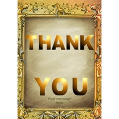 Thank You 3d Card By Deborah   Thank You 3d Greeting Card (7x5)   C4tb6m7580y7   Www Artscow Com Inside
