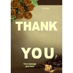 Thank You 3d Card By Deborah   Thank You 3d Greeting Card (7x5)   4vdna7an3dpf   Www Artscow Com Inside