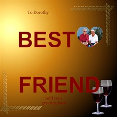 My Best Friends 3d Card By Deborah   Best Friends 3d Greeting Card (8x4)   Znupsrpci4g3   Www Artscow Com Inside