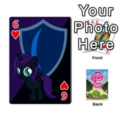 Mlp Playing Cards By Raymond Zhuang   Playing Cards 54 Designs   Vfvcn4uqo34e   Www Artscow Com Front - Heart6