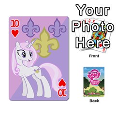 Mlp Playing Cards By Raymond Zhuang   Playing Cards 54 Designs   Vfvcn4uqo34e   Www Artscow Com Front - Heart10
