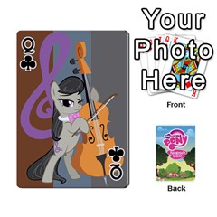 Queen Mlp Playing Cards By Raymond Zhuang   Playing Cards 54 Designs   Vfvcn4uqo34e   Www Artscow Com Front - ClubQ
