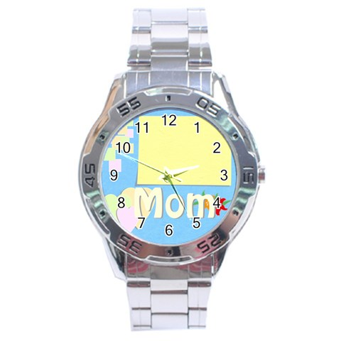 Mother s Day By Jacob   Stainless Steel Analogue Watch   Wfy6thelga0z   Www Artscow Com Front
