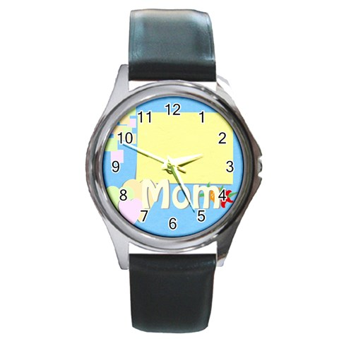 Mother s Day By Jacob   Round Metal Watch   Mp01pzh0h3za   Www Artscow Com Front