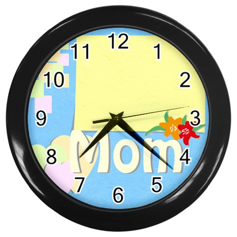Mother s Day By Jacob   Wall Clock (black)   9ggjf26mznby   Www Artscow Com Front