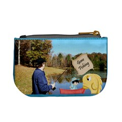 Gone Fishing Mini Coin Purse 2 By Snackpackgu   Mini Coin Purse   Kkx8qr0eb0et   Www Artscow Com Back
