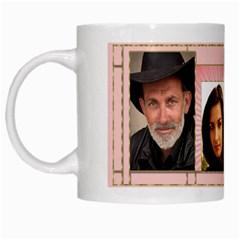 My Pink 4 Frame Mug By Deborah   White Mug   Prldw852b3sp   Www Artscow Com Left