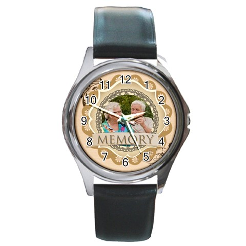 Memory By Joely   Round Metal Watch   D6mhn09vwx20   Www Artscow Com Front