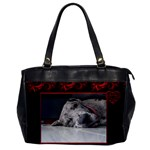 Red and Black Oversize Office Bag - Oversize Office Handbag