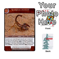 Advanced Outdoor Survival Forest And Desert Encounter Deck By Michael   Playing Cards 54 Designs   Jf3o4cc8g3ml   Www Artscow Com Front - Club7