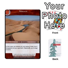 Advanced Outdoor Survival Forest And Desert Encounter Deck By Michael   Playing Cards 54 Designs   Jf3o4cc8g3ml   Www Artscow Com Front - Club8