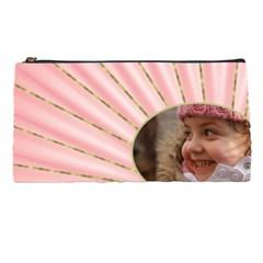 Rays Of Pink Pencil Case By Deborah   Pencil Case   Ke2b4ahaxwq2   Www Artscow Com Front