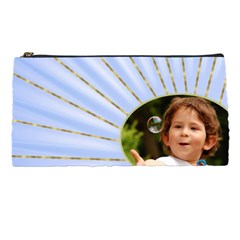 Rays Of Blue Pencil Case By Deborah   Pencil Case   04rzqbaed20a   Www Artscow Com Front